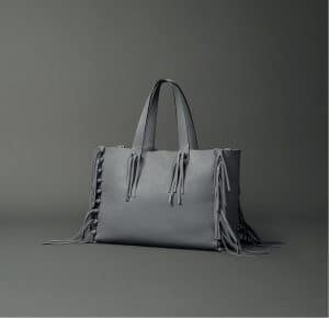 Valentino Fringe Grey Tote Bag - Fall 2014