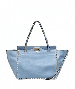 Valentino Grey Rockstud Tote Medium Bag