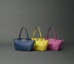Valentino Mini Rockstud Tote Bags - Fall 2014