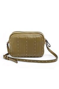 Valentino Olive Studded Shoulder Bag