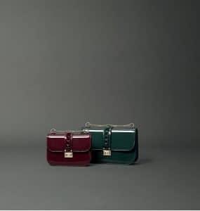 Valentino Patent Rockstud Tote Bags - Fall 2014