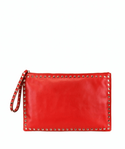 Valentino Red Rockstud Large Soft Pouch Bag