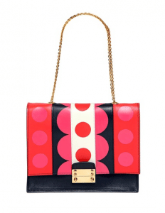 Valentino Red/Black/Pink Carmen Close Up Shoulder Bag