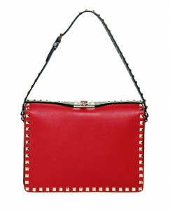 Valentino Red/Green Rockstud Shoulder Bag