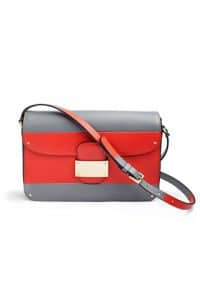 Valentino Red/Grey Striped Flap Bag