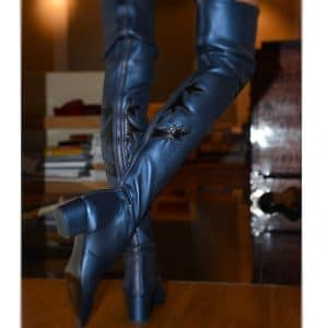 Chanel Paris-Dallas Over the Knee Boot with Leaf Motif