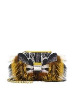 Fendi Yellow Bag Bug 'Be Baguette' Fur - Fall 2014