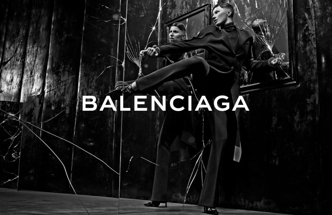balenciaga fall winter 2014 ad campaign features a woven