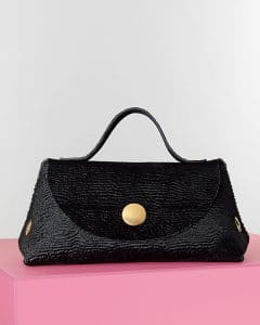 Celine Black Astrakhan Stamped Pony Orb Bag