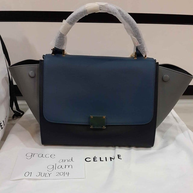 Celine Navy Blue Bag Compilations from the Pre-fall 2014 ...
