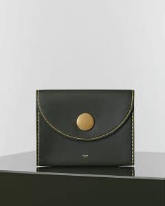 Celine Khaki Orb Clutch Bag