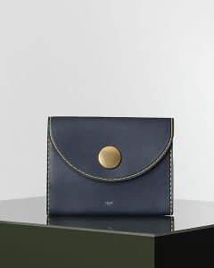 Celine Navy Blue Orb Clutch Bag