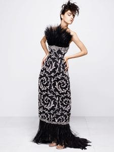 Chanel Black Embroidered Long Dress - Fall 2014 Haute Couture