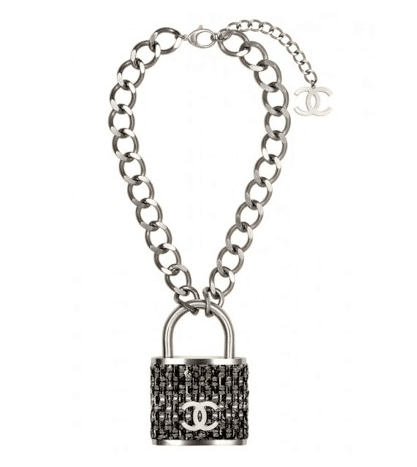 Chanel Padlock Necklace From The Fall Winter 2014 Runway