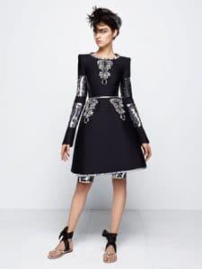 Chanel Black/Silver Boxy Dress - Fall 2014 Haute Couture