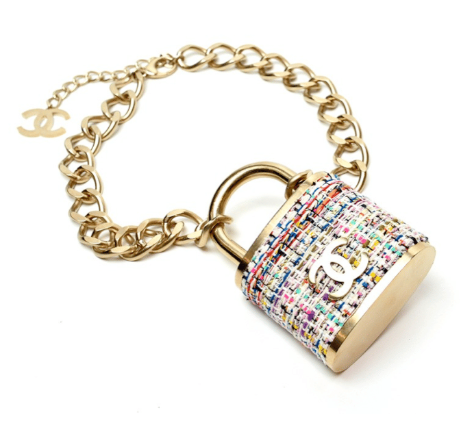 Chanel padlock necklace from the fall winter 2014 runway spotted gallery aloadofball Choice Image