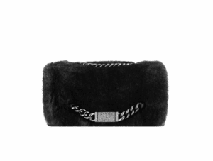 Chanel Orylag Fur Flap Bag with Chanel Plate - Fall 2014