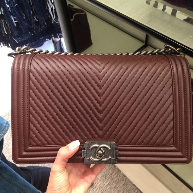 e0d4c58b58f6 ... Fall 2014. Chanel Herringbone Chevron Boy Bag. Source: Chanel,  Lux_Brands_Boutique