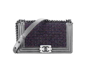 Chanel Tweed and Metallic Boy Flap Bag - Fall 2014