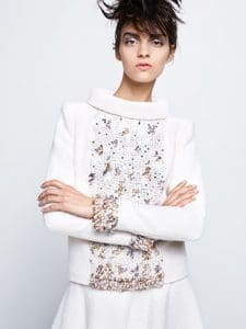 Chanel White Embellished Dress - Fall 2014 Haute Couture