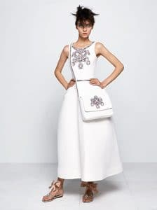 Chanel White Embellished Dress and Messenger Bag - Fall 2014 Haute Couture