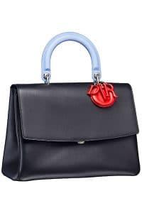 Dior Black/Light Blue Be Dior Flap Bag