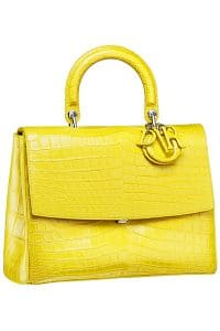 Dior Yellow Croc Be Dior Flap Bag