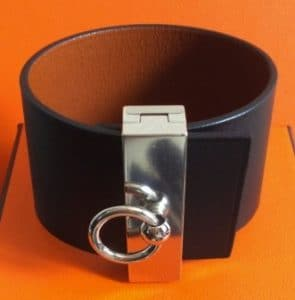Hermes Black/Gold Illusion Bracelet Palladium Hardware