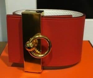 Hermes Capucine/White Illusion Bracelet