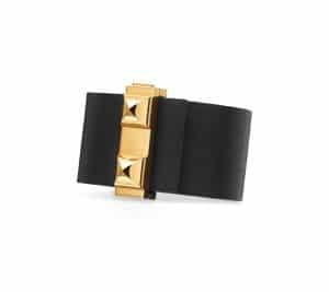 Hermes Fawn/Black Imprevisible Bracelet
