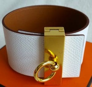 Hermes White/Gold Illusion Bracelet