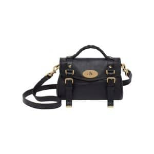 Mulberry Black Mini Alexa Bag