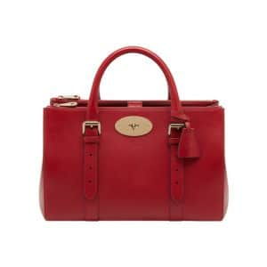 Mulberry Poppy Red Bayswater Double Zip Tote Bag