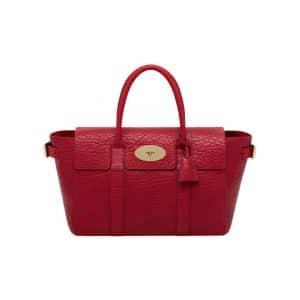 Mulberry Poppy Red Shrunken Calf Bayswater Buckle Bag