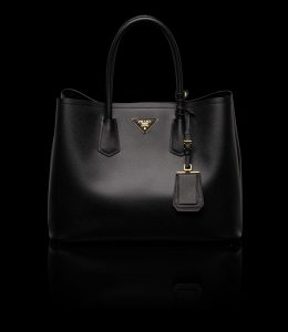 Prada Black Double Tote Medium Bag