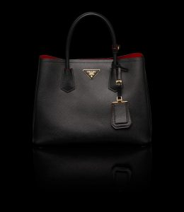 Prada Black Double Tote Small Bag