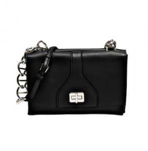 Prada Black Vitello Soft Chain Shoulder Bag