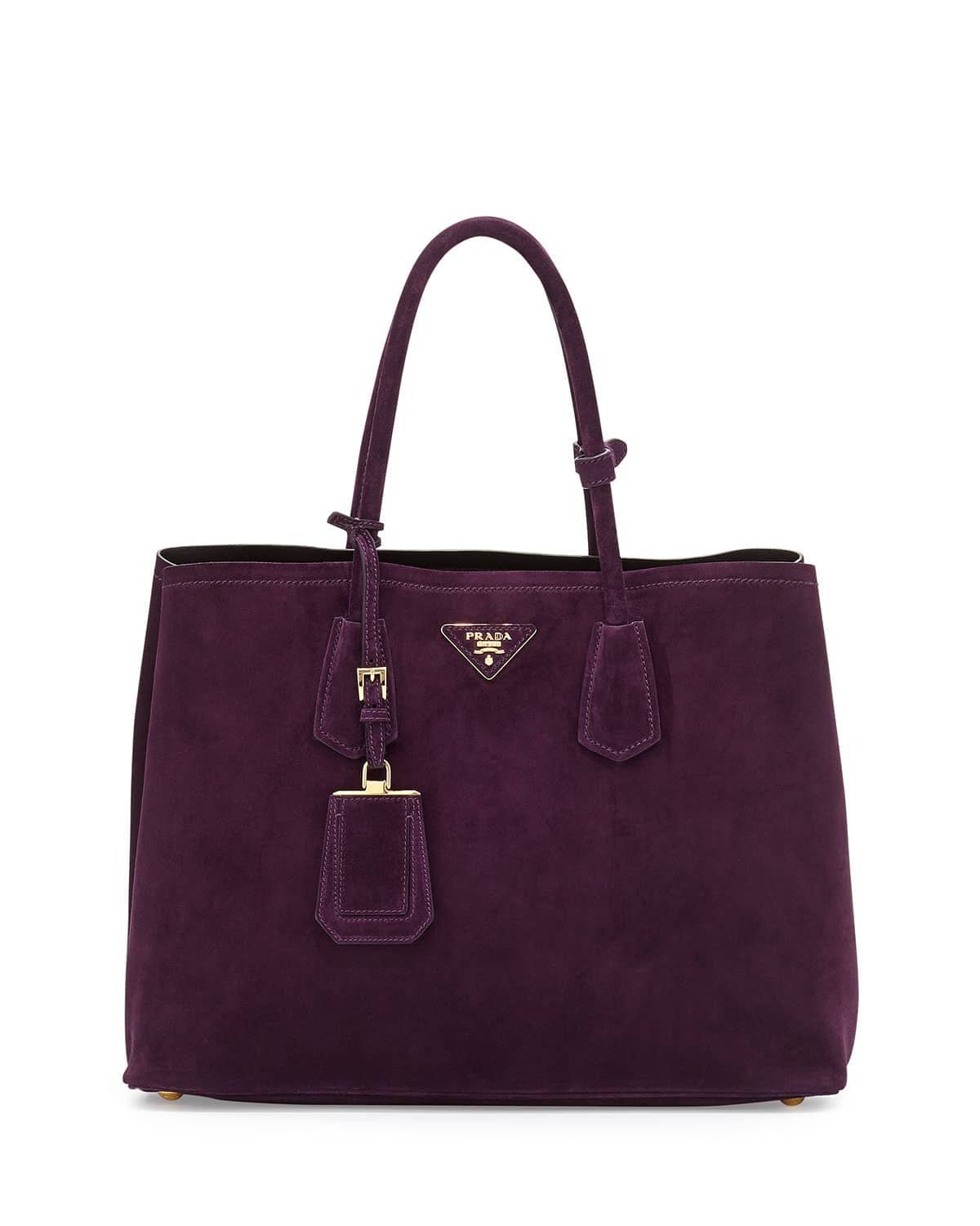 Prada Dark Purple Suede Double Bag