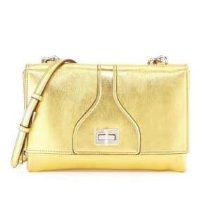 Prada Gold Vitello Soft Chain Shoulder Bag