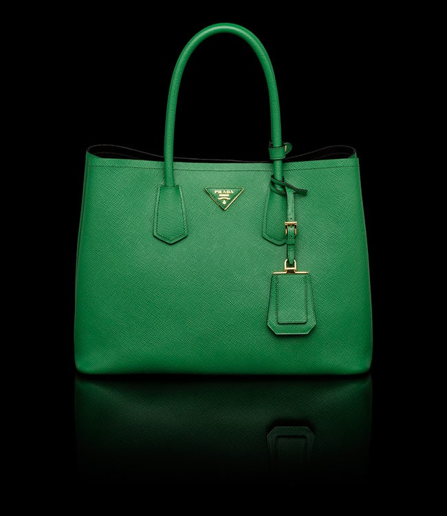 prada taupe bag - Prada-Green-Double-Tote-Medium-Bag.jpg