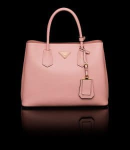 Prada Orchid Pink Double Tote Small Bag