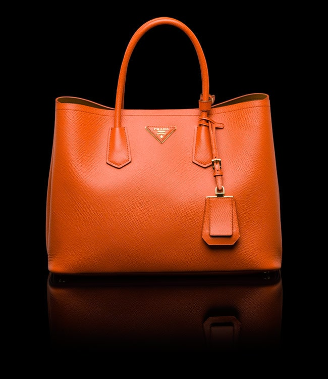 orange prada bag