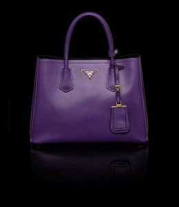 Prada Purple Double Tote Small Bag