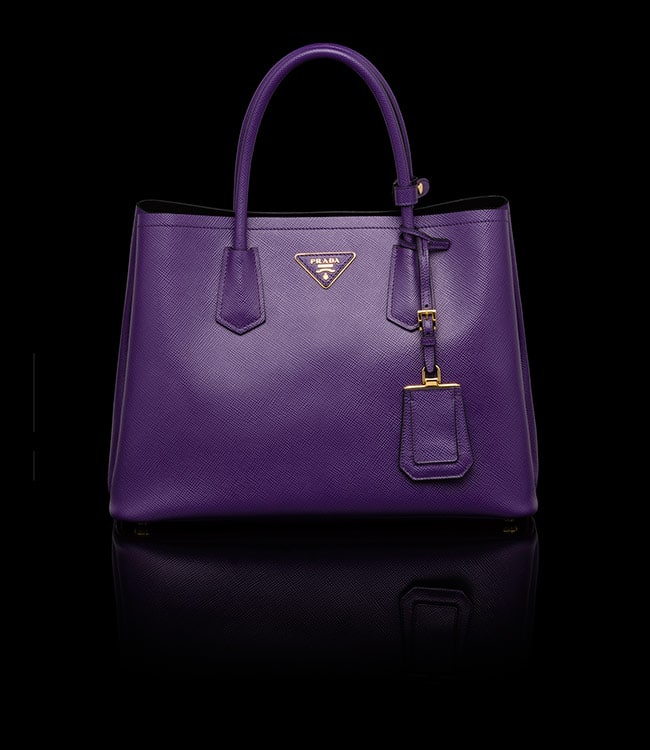 Prada Purple Double Tote Small Bag