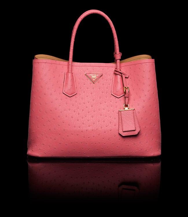 564a4e8875f2 ... promo code prada tamaris ostrich double tote medium bag 24875 1ed09