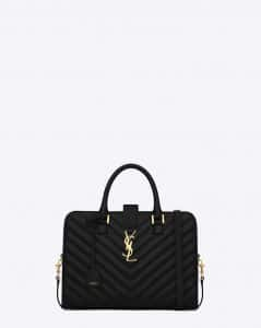 Saint Laurent Black Monogramme Cabas Matelasse Small Bag