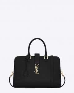 Saint Laurent Black Monogramme Cabas Medium Bag