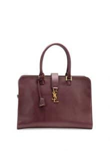 Saint Laurent Bordeaux Monogrammae Cabas Small Bag