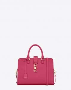 Saint Laurent Lipstick Fuchsia Monogramme Cabas Small Bag