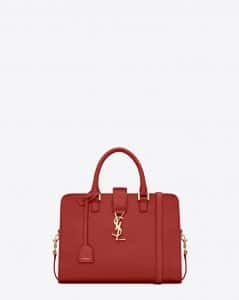 Saint Laurent Lipstick Red Monogramme Cabas Small Bag